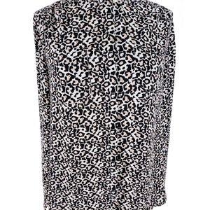 LOFT Tops - 2/$30 Ann Taylor LOFT Leopard Hidden Button Blouse